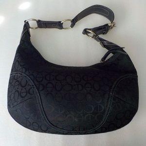 Etienne Aigner Black Signature Leather/Fabric Bag